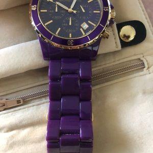 Michael Kors Accessories - Plastic chronicle watch purple
